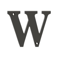 """4"""" Residential Letter W - Oil-rubbed Bronze"""