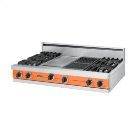 "Pumpkin 48"" Sealed Burner Rangetop - VGRT (48"" wide, four burners 12"" wide griddle/simmer plate 12"" wide char-grill)"