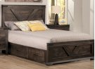 Chattanooga Queen 4 Drawer Storage Platform Bed With 22'' Low Footboard Product Image