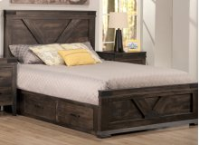 Chattanooga Double 4 Drawer Storage Platform Bed with 22'' Low Footboard
