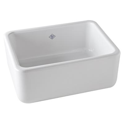 White Shaws Original Lancaster Single Bowl Apron Front Fireclay Kitchen Sink