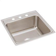 """Elkay Lustertone Classic Stainless Steel 22"""" x 22"""" x 10-1/8"""", Single Bowl Drop-in Sink"""