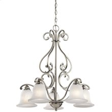 Camerena Collection Camerena 5 Light, 1 Tier Chandelier-Brushed Nickel