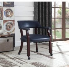 Traditional Blue Home Office Chair