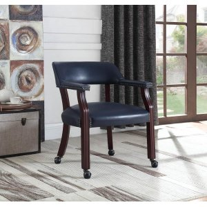 CoasterTraditional Blue Home Office Chair