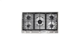 """Renaissance 36"""" Gas Cooktop, in Stainless Steel, Liquid Propane - High Altitude"""