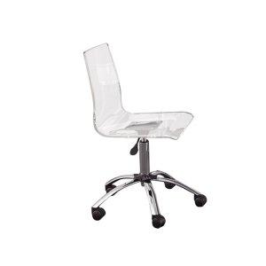 Steve Silver Co.Arthur Adjustable Swivel Chair, Clear