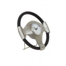 Clock 26x5 cm STEERING antique lead-black