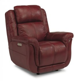 Brookings Leather Power Gliding Recliner with Power Headrest