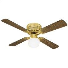 """Millbridge Hugger Mount Ceiling Fan 42"""", Polished Brass #156588"""