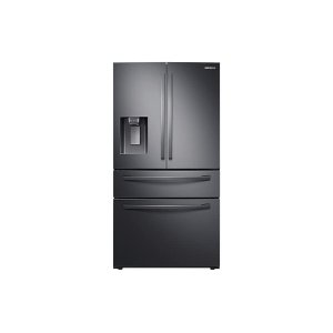 Samsung23 cu. ft. 4-Door French Door, Counter Depth Refrigerator with FlexZone Drawer in Black Stainless Steel