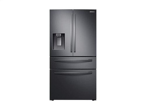 23 cu. ft. 4-Door French Door, Counter Depth Refrigerator with FlexZone Drawer in Black Stainless Steel