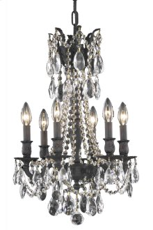 8206 Rosalia Collection Hanging Fixture Dark Bronze Finish