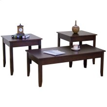 Espresso 3pc Occasional Table Set