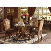 Dresden Cherry Oak Finish Dining Table Set Product Image