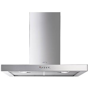 "Smeg76 Cm (30""), Ventilation Hood, Stainless Steel"