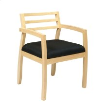Napa Maple Guest Chair With Wood Back