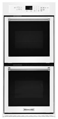 "24"" Double Wall Oven with True Convection - White"