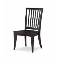 Slat Back Side Chair - Peppercorn