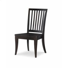Slat Back Side Chair - Peppercorn