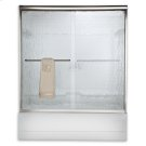 Euro Frameless Sliding Tub Shower Doors - Brushed Nickel Product Image