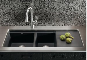 Blanco Precis Multilevel 1-3/4 Bowl With Drainer - Anthracite