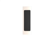 Rectangle Flush Pull Recess Leather In Black Tea And Polished Nickel