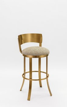 Baltimore Gold Stainless Steel Bar Stool
