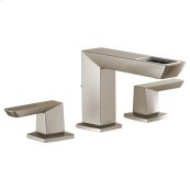 Widespread Lavatory Faucet With Open-flow Spout