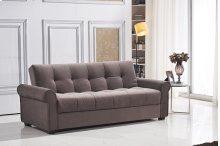7576 Dark Brown Sofa *DISCONTINUED*