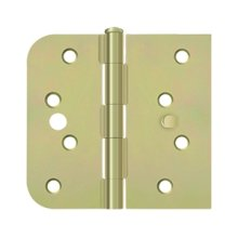 "Special Hinge for Fiber Glass Doors, 4"" x 4 1/4"" x 5/8"" Radius x SQ, Security Stud - Zinc Dichromate"