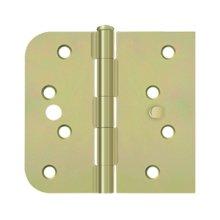 "Special Hinge for Fiber Glass Doors, 4"" x 4 1/4"" x 5/8"" Radius x SQ, Security Stud - Zinc Dichromate"