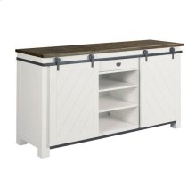 Shiplap Sliding Door Media Console