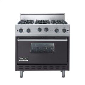 "Graphite Gray 36"" Open Burner Range - VGIC (36"" wide, six burners)"