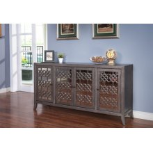 CHARLOTTE 4 DOOR CREDENZA-CLOUD GRAY