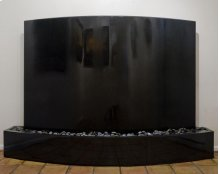 Curved Wall Fountain Black Custom Indoor Black Granite Surround / Black Granite