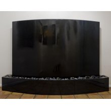 Curved Waterwall, Black Granite Black Granite Indoor Surround