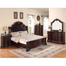 Sheffield Queen Bedroom Set: Queen Bed, Nightstand, Dresser & Mirror
