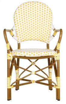 Hooper Indoor-outdoor Stacking Armchair - Yellow&white