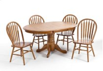 Classic Oak Chestnut Pedestal Table Product Image