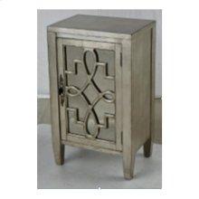 Leighton 1-door Cabinet In Silver Leaf