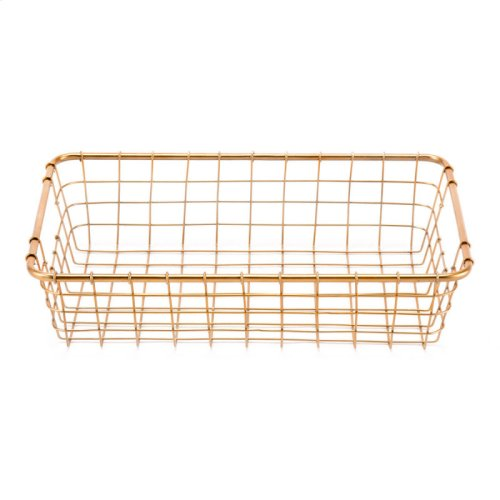 Set Of 3 Baskets Gold