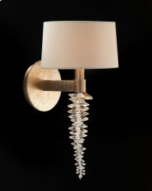 Cascading Crystal Waterfall One-Light Wall Sconce