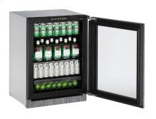 """2000 Series 24"""" Glass Door Refrigerator With Integrated Frame Finish and Field Reversible Door Swing"""