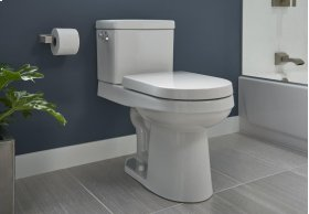 """White Wicker Park 1.28 Gpf 12"""" Rough-in Two-piece Elongated Ergoheight Toilet"""