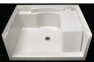 """Accord® 48"""" Seated Shower Receptor - White"""