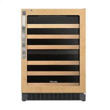 """24"""" Custom Panel Dual Zone Wine Cellar - DFUW (Left Hinge Clear Door)"""
