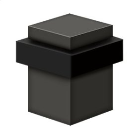 "Square Universal Floor Bumper 2-1/2"", Solid Brass - Oil-rubbed Bronze"