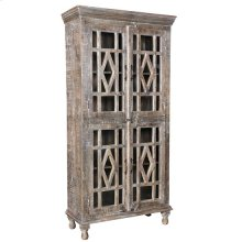 Bengal Manor Mango Wood Grey Wash 4 Door Cabinet