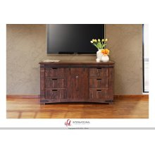 "60"" TV Stand w/6 Drawer, 1 door w/2 shelves"